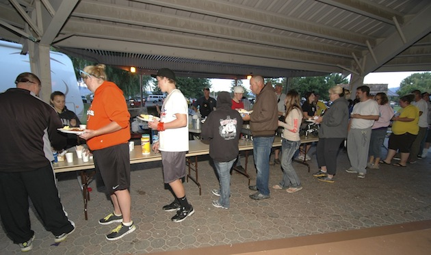 Over 100 breakfasts were provided to the various teams who participate in the overnight Relay for Life walk raising money for cancer research.